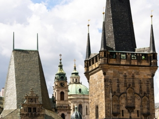 Karlsbrücke, Blick auf St. Nikolaus